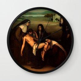 1915 Classical Masterpiece 'The Grace' by Julio Romero de Torres Wall Clock