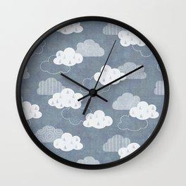RAIN CLOUDS Wall Clock