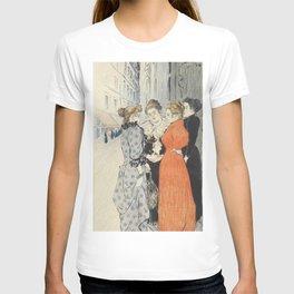 """Théophile Alexandre Steinlen """"Les rues amoureuses"""" T-shirt"""