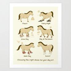 Horse Shoes Art Print
