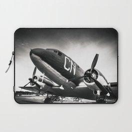 C-47D Skytrain Black and White Laptop Sleeve