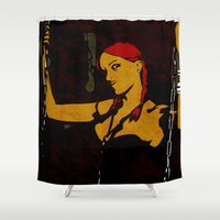 redhead Shower Curtains featuring Redhead by Sandra Höfer