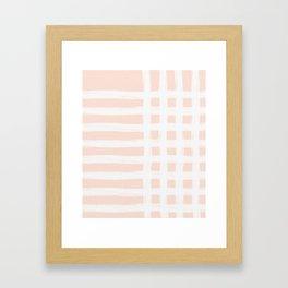 Blush Gross Stripes No.1 Framed Art Print