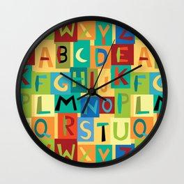 Papercut Alphabet Wall Clock