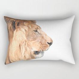 Lion Profile Rectangular Pillow