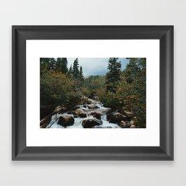 Rocky Mountain river Framed Art Print