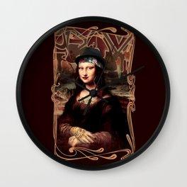 Chicana Mona Lisa Wall Clock