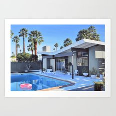 Butterfly Roof House Art Print
