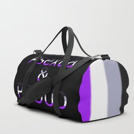 Asexual and Proud (black bg) Duffle Bag