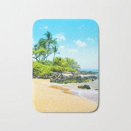 Mokapu Beach Pacific Ocean Tropical Beauty Maui Hawaii Bath Mat