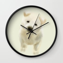 Jindo puppy Wall Clock