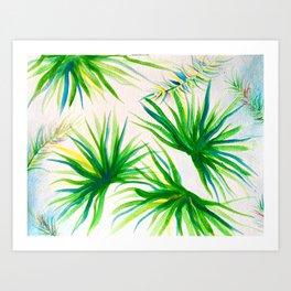 Breezy Palms Art Print