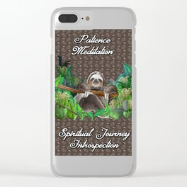 The Sloth (The Spiritual Meaning) Clear iPhone Case