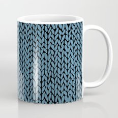 Hand Knit Niagra Blue Coffee Mug