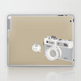 "Yashica Camera - ""Say Cheese"" - soft-brown Laptop & iPad Skin"