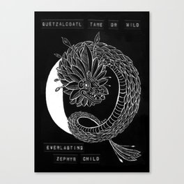Q is for Quetzalcoatl Canvas Print