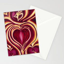 4 of hearts Stationery Cards