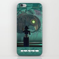 bioshock infinite iPhone & iPod Skins featuring Art Nouveau Bioshock Infinite - Elizabeth and Songbird by Sabtastic
