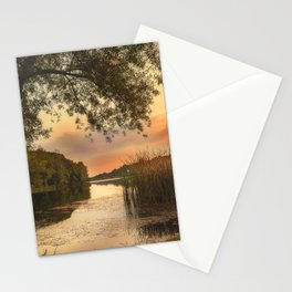 Secret place on the small lake Stationery Cards