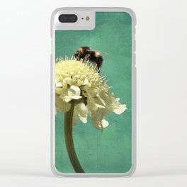 Perfect Scabiosa Clear iPhone Case