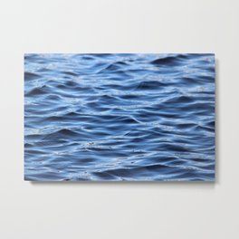 Without the sea, there is no you or me. Metal Print