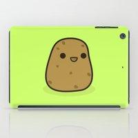 potato iPad Cases featuring Cute potato by Holly