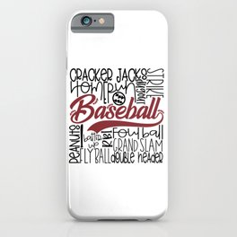 Baseball Typo iPhone Case