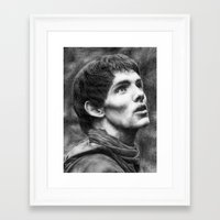 merlin Framed Art Prints featuring Merlin by Lisa Buchfink