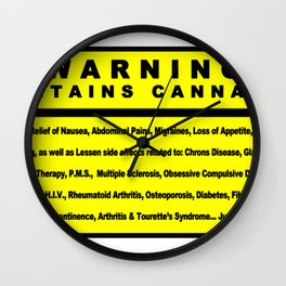 MMJ Benefits Wall Clock