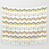 blanket Wall Tapestries featuring Blanket Stripe by Jill Byers