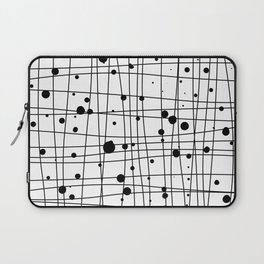 Woven Web black and white Laptop Sleeve