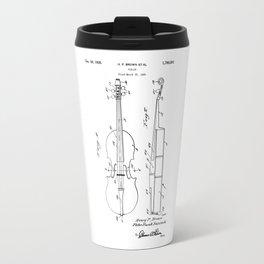 patent art Brown et al Violin 1930 Travel Mug