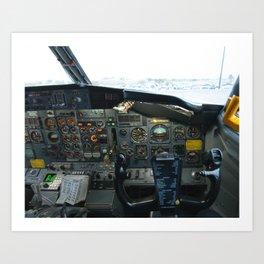 737 Airliner Cockpit Art Print