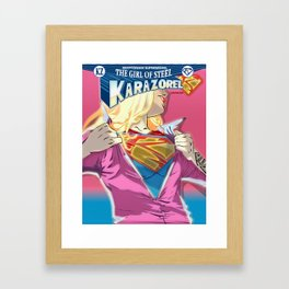 KaraZorel - Kryptonian Supermodel - GirlOfSteel - AltVrsn Framed Art Print