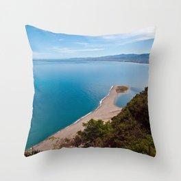 White Lagoon of Tindari on the Isle of Sicily Throw Pillow