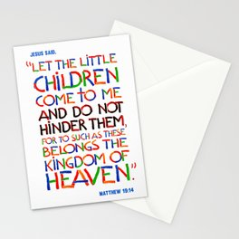 Let the little children come to me Stationery Cards
