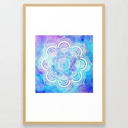 Mandala Pink Lavender Aqua Galaxy Space Framed Art Print