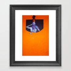 Ahoy Mate (squid-girl) Framed Art Print