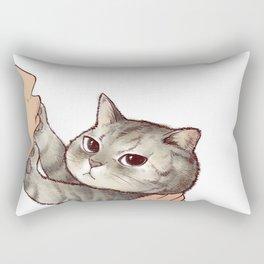 cat : hmmmmm! Rectangular Pillow
