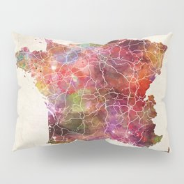 France map Pillow Sham
