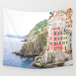 Colorful Cinque Terre, Italy, View of Riomaggiore Wall Tapestry