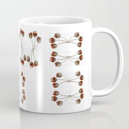 Dentelle aux fuseaux, épingles à tête de corail Coffee Mug