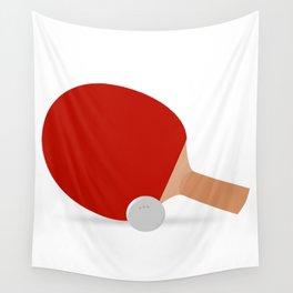 Ping-Pong Racket & Ball Wall Tapestry