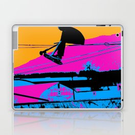 Tail Grabbing High Flying Scooter Laptop & iPad Skin