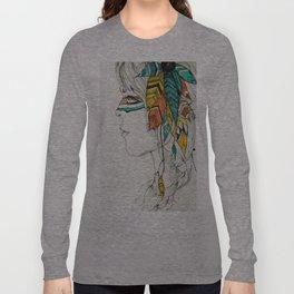 Native Woman Long Sleeve T-shirt