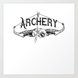 Tattoo Art Bow Archery Art Print