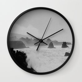 Misty Cliffs of the Soul Wall Clock