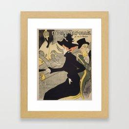 Henri Toulouse Lautrec / Divan Japonais Framed Art Print