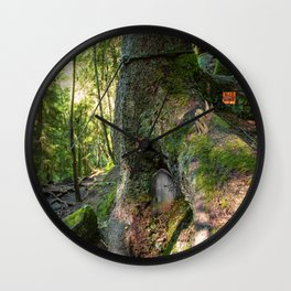 Fairy House Wall Clock