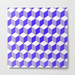 Diamond Repeating Pattern In Nebulas Blue and Grey Metal Print